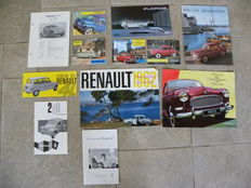 Renault - collection brochures and manual for 4 CV , Domaine , Floride , Fregate , Manoir , Dauphine ,
