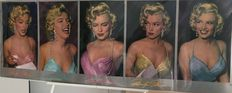 Phil Stern - coloured by Del Greger- Five Times Marilyn.