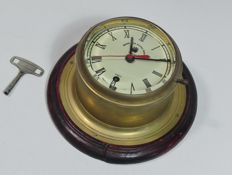 Brass ship's clock - For Royal Navy - England 1929
