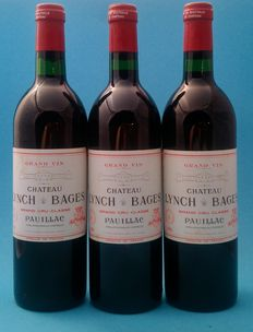 1981 Chateau Lynch-Bages, Pauillac, 5e Grand Cru Classé – 3 bottles (750ml)