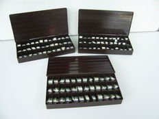 Lot with 3 Letter trays of bakelite - Mid 20th century