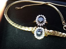 Necklace + lady Di ring -- ring size is 18