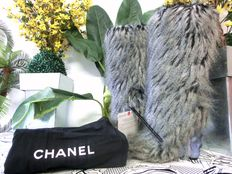 Chanel - platform boots - with certificate - and 2 dust bags