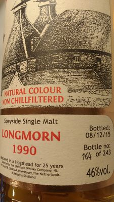 Longmorn 25 years old - Vintage 1990 - Limited Release of The Ultimate (No. 164/243)