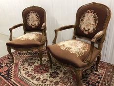 "Two charming ""embroidered"" chairs"