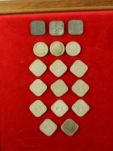 The Netherlands – 5 cents 1907/1943 Wilhelmina (18 different coins, complete series)
