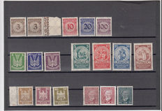 German Empire 1923/1931 - lot on stock cards