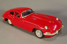 Bandai, Japan - Length 20 cm - Tin Jaguar E - Type with friction motor, 60s