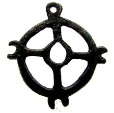Large Saxon Era Open-Work Pendant with Cross - 50mm