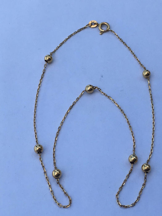 18 kt yellow gold necklace - 38.5 cm.