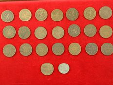 The Netherlands - 2 1/2 cents 1877/1941 Willem III and Wilhelmina (23 different coins, complete series)