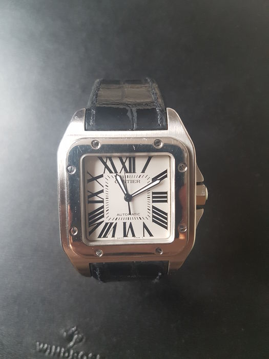 0a90a0648729c Cartier Santos 100 XL Ref: 2656 - Men's watch - Catawiki