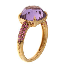 Chimento - 'Sibilla' women's ring, rose gold with amethyst and pink sapphires - Ring size 17.2 (54)