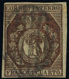 Spain 1853 – Madrid Shield – Edifil 22