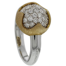 """Chimento –  """"Happiness"""" women's ring 18 kt white gold with rose gold setting with diamond of 0.57 ct – Ring size 17.2 (54)"""