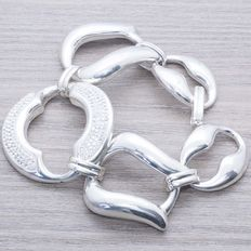 bracelet 925/1000 sterling silver – Italian design – Length: 21 cm – Weight: 33.40 g. no reserve price