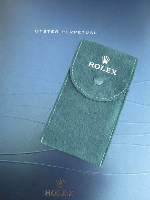 Original Rolex, green leather service watch pouch/case, reference: 50006036.64