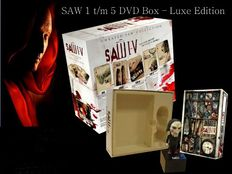SAW 1 -5 collection - Limited box set with Exclusive Jigsaw voice recorder - EXTRA - Neca figure of the Jigsaw killer