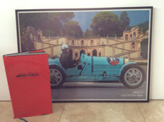 Poster Mille Miglia and Boek; Mille Miglia, 1000 miles for connoisseurs! – 1998