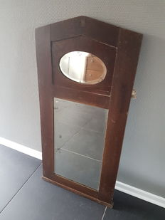 Antique oak farm mirror - Netherlands - ca. 1890