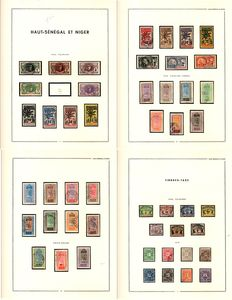 Upper Senegal and Niger 1906/1917 - almost-complete collection - Yvert no. 1/35 + airmail + duty