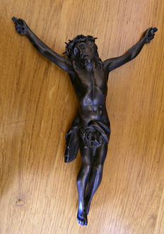 Original sculpture of Christ, by Eugene Blot, signed, (1830-1899)