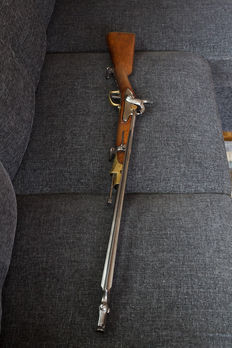 Dutch Marechaussee  carbine rifle m/1825 maraschusse with integrated bayonet