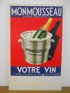 Advertising sign for Monmousseau wine from 1970