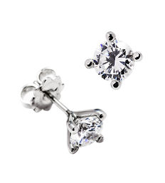 White gold and diamond earrings, 1 ct of total weight