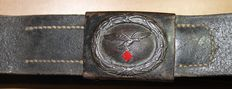 Belt and buckle model m 1941, Luftwaffe,-WW2, in good condition, many stamps