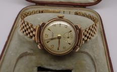 Helvetia - 9 ct gold ladies watch linked with 9 ct gold bracelet
