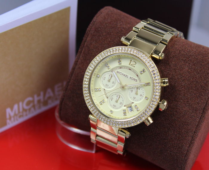 Michael Kors – Ladies MK5354 Parker Gold Plated Designer Watch – New & Mint Condition