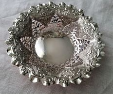 solid silver bonbon dish, Cooper Brothers, Sheffield, 1894, Victorian age