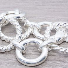 925/1000 sterling silver – Italian design – Length: 21 cm – Weight: 53.00 g.