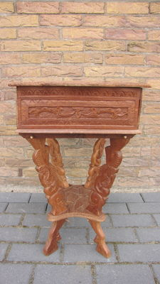 Woodcarving sewing table - Indonesia