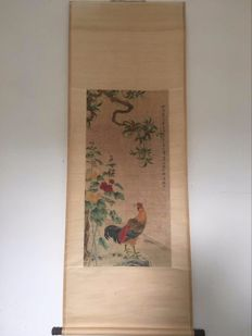 A scroll painting made after Tian Shiguang - China - laat 20th century
