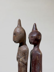 Two amulet figures - Leti - Moluccas - Indonesia
