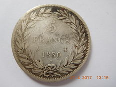 "France - 5 francs ""Louis Philippe"" 1830 - A Paris - silver"