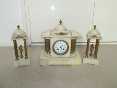 Marble clock set - around 1940