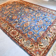 Stunning blue Romanian Tabriz rug – 309 x 198 – beautiful appearance and quality