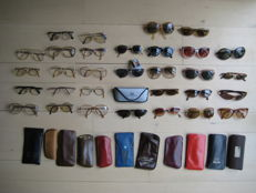 Collection of vintage ladies and gentlemen glasses and sunglasses
