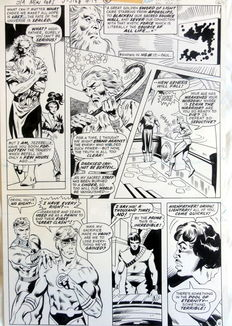 Newton, Don / Adkins, Dan - original plate (p.6) - Return Of the New Gods # 19 - (1978)