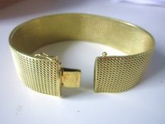 Broad retro ladies' bracelet with 14 kt gold plating