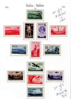 Italy 1936/37 - Collection lot -  SASS#: A95/99, 398/405, 406/15, A100/105, A106/10, 416/25