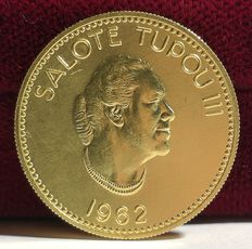 Tonga – 22 kt gold coin – Queen Salote Tupou III Year 1962 – Only 6300 minted
