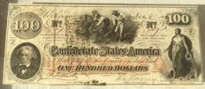 United States - 100 Dollars 1862 'Richmond' Confederate States of America