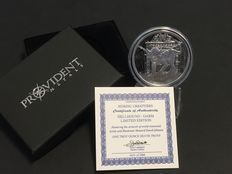 USA - Nordic Creatures - Hellhound - Garm 2017 - 1 oz 999 Silver - Polished Plate/Proof - with Box & Certificate
