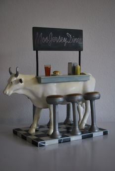 Brooklyn Model Works - Cow Parade - Type Moo Jersey Diner - Large and Retired.