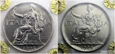 Kingdom of Italy – 1 Lira bond coins, 1923 and 1928 – Vittorio Emanuele III – (2 coins)