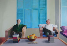 David Hockney - Christopher Isherwood and Don Bachardy